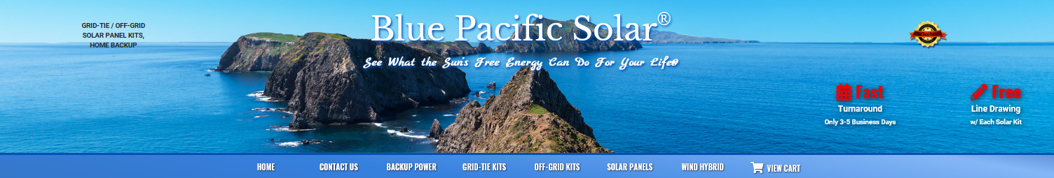 Blue Pacific Solar Systems & Kit  Packages