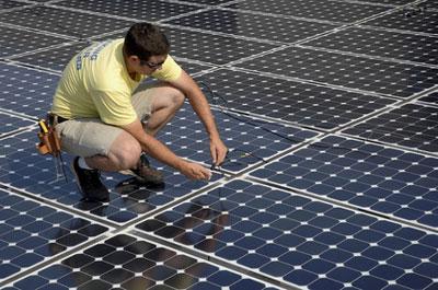 office building solar