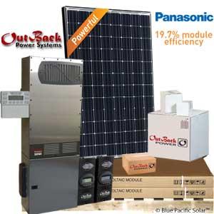 Outback 13000w Off Grid Solar Kit Panasonic Radian 8048a