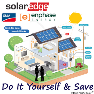 solar kits diy installation packages solaredge enphase sma rh bluepacificsolar com