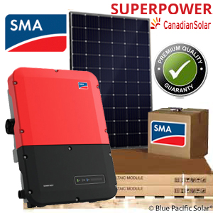 SMA 4 8 kW Kit 300 Watt Canadian Solar Panels with Secure Power