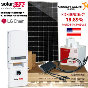 9 kW home backup solar panel system solaredge