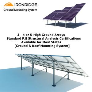 IronRidge Ground Mounts Rack Kit
