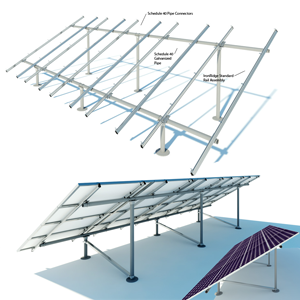 solar ground rack