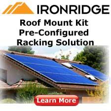 Solar Racking Mounts Ironridge, SnapNrack, DPW