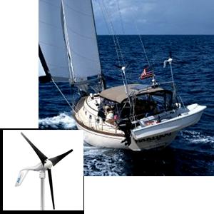 Air Breeze 12v Turbine Diy Marine Rv Shore Wind Generator
